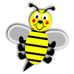 Cartoon smiling bee