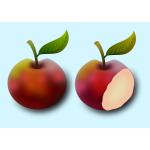 Two apples image