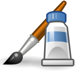 Paint application for PC icon vector clip art