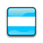 Argentina glossy button flag