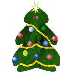 Christmas tree graphics image
