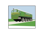 Vector image of VL-85 container train