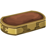 Vector image of brown ground container with gold decoration