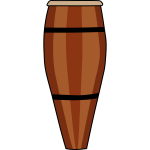 Atabaque hand drum vector drawing