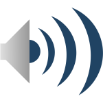 Sound emitter icon vector clip art