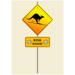 Snow risk sign