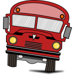 Vector drawing of a cartoon bus