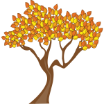 Tree with autumn leaves vector clip art
