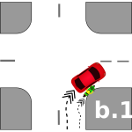 Traffic crash pictogram