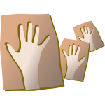 Hands on clay vector image