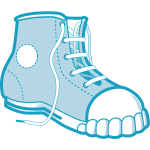 Vector image of a Converse boot