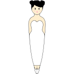 Ballerina Pencil Pal in gown vector graphics