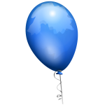 Vector graphics of blue shiny balloon with shades