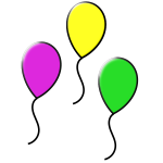 Vector illustration of three floating balloons