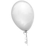 Vector graphics of pale yellow balloon on a decorated string