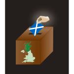 Scottish independence vote vector image