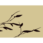 Bamboo leaves vector silhouette