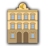 Bank building illustration