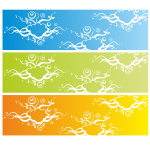 Banner with abstract background