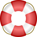 Life saver vector icon