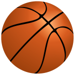 Vector image of basketball ball