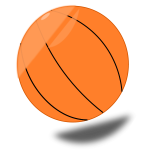 Basketball ball with shadow vector graphics