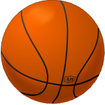 Basketball playing ball vector clip art