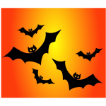 Color Halloween poster vector image