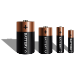 Different battery sizes