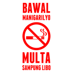 Philippines No Smoking sign vector graphics