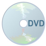Vector graphics of DVD icon