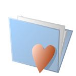 Love folder icon vector image