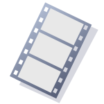 Video tape icon vector clipart