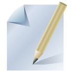 Document icon vector drawing