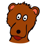 Place marker bear vector image