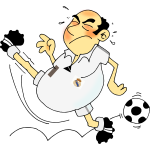 Comic soccer player vector image