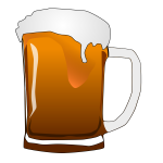 Vector image of beer mug