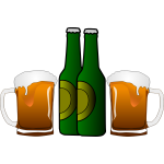 Vector graphics of beers