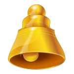 Vector graphics of golden bell symbol