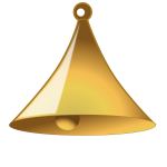 yellow bell in 3d