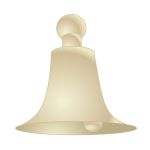 SVG of a beige bell