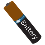 AAA battery  tilted vector image