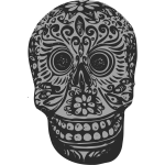 Tatoo skull vector clip art