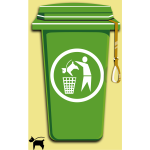 Dog trash can vector image