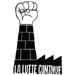 The struggle continues poster vector image