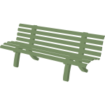Bench in green color