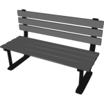 3D park bench vector drawing