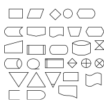Vector image of dataflow diagram icons