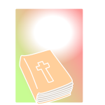 Bible closed in colorful background vector clip art