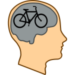 Bicycle for our minds vector illustration